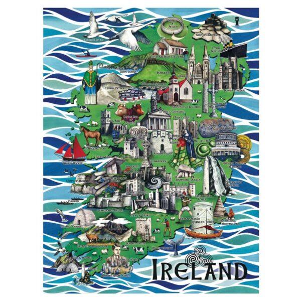 Art puzzle of Ireland