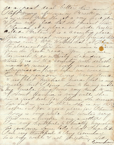 Letter from Boston - July 3rd 1867
