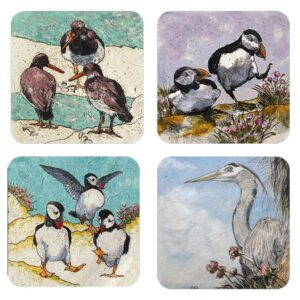 Annabel Langrish Seabirds Coaster Set
