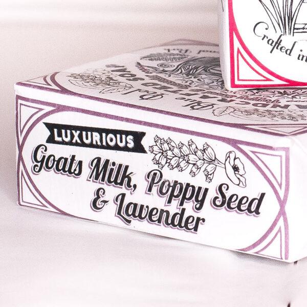 Blue Pool Soap Goats Milk Poppy Seed & Lavender