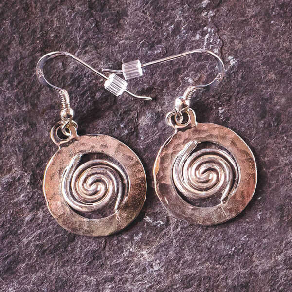Spiral of Life Earrings Silver - Large