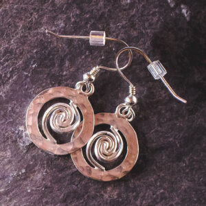 Spiral of Life Earrings Silver – Small