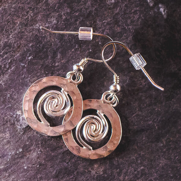 Spiral of Life Earrings Silver - Small