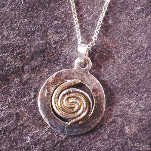 Spiral of Life Pendant Large - Silver