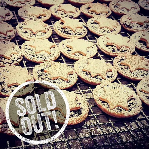 Bricin mince pies sold out